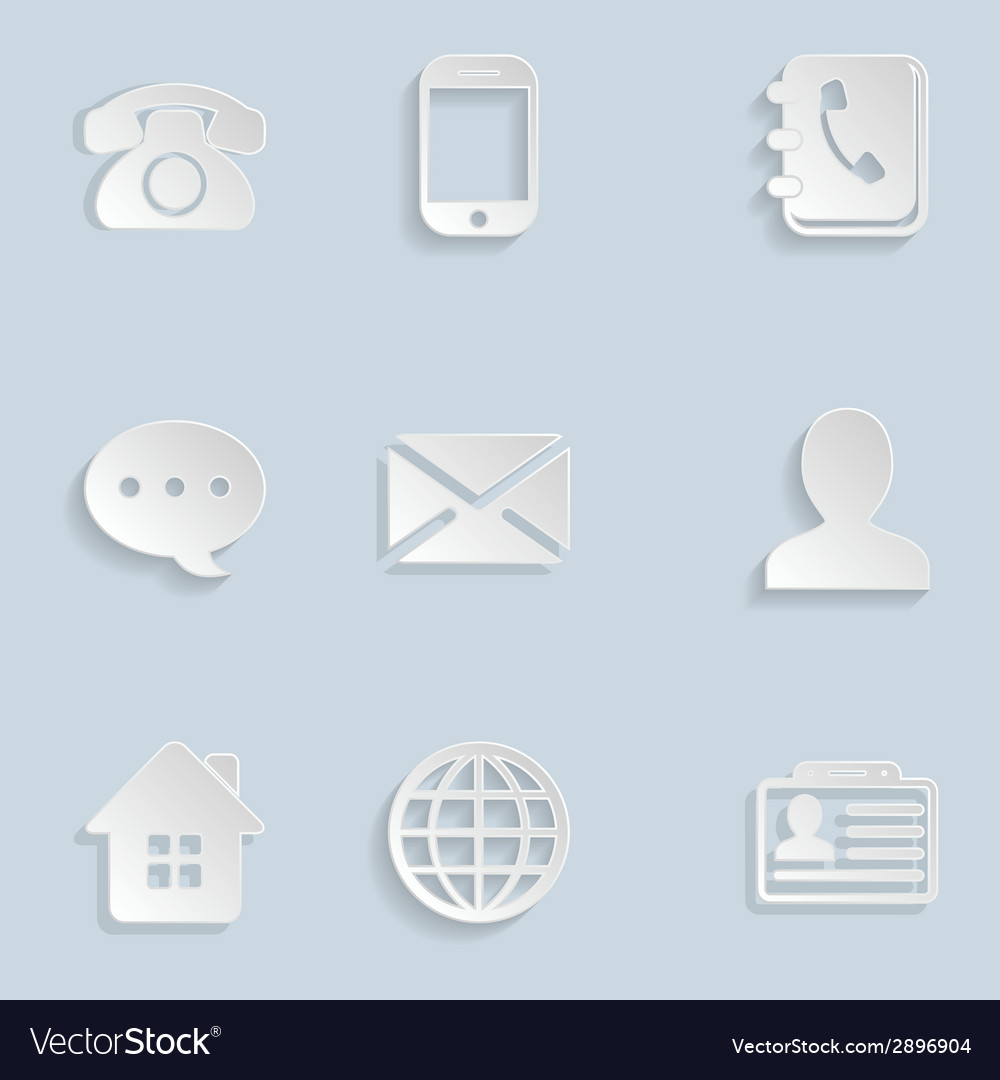 Contact paper icons set vector | Price: 1 Credit (USD $1)