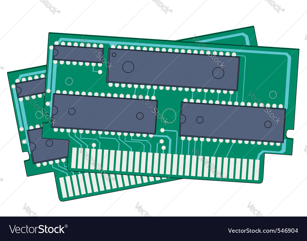 Digital memory ram vector | Price: 1 Credit (USD $1)