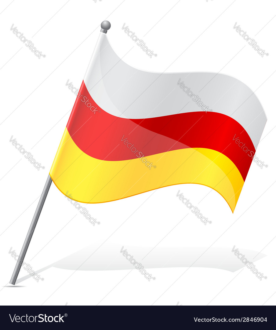 Flag of south ossetia vector | Price: 1 Credit (USD $1)