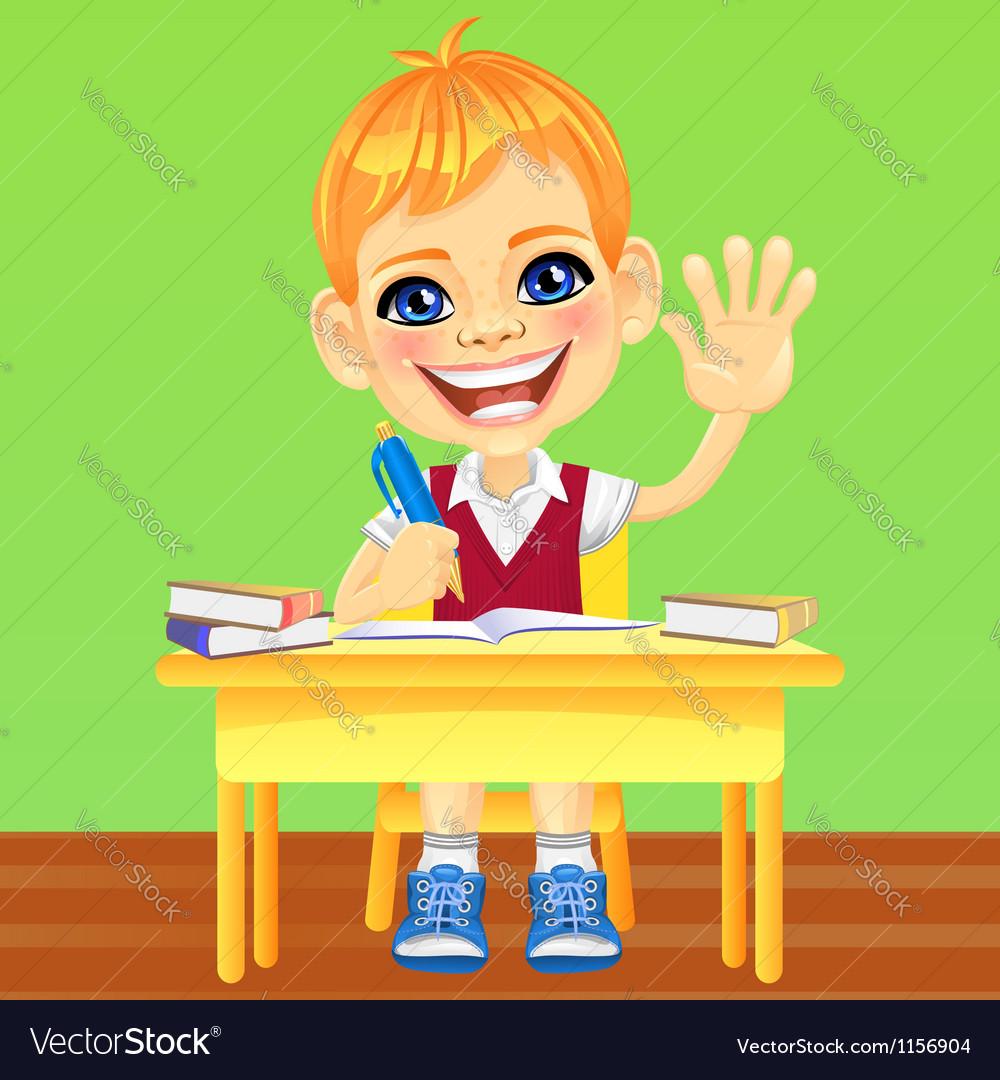 Happy smiling schoolboy vector | Price: 1 Credit (USD $1)