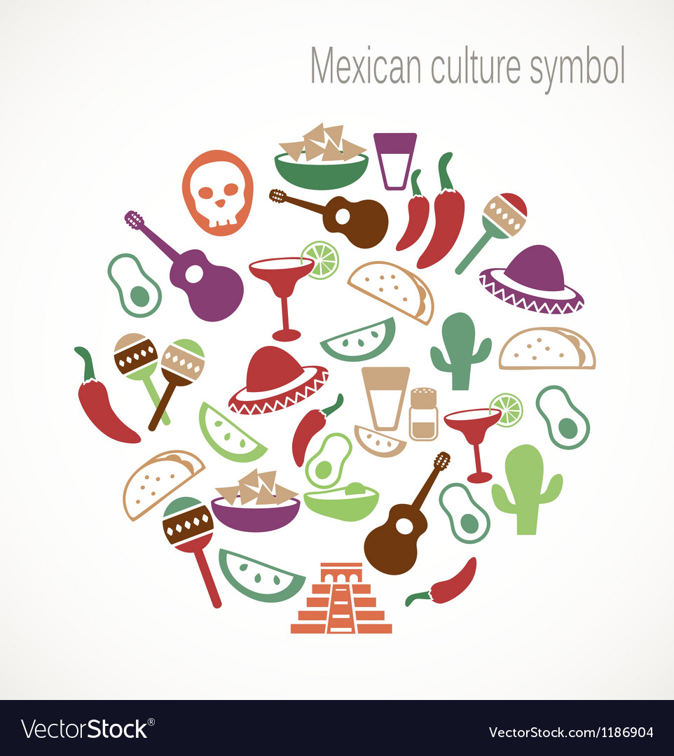 Mexican culture symbols vector | Price: 1 Credit (USD $1)
