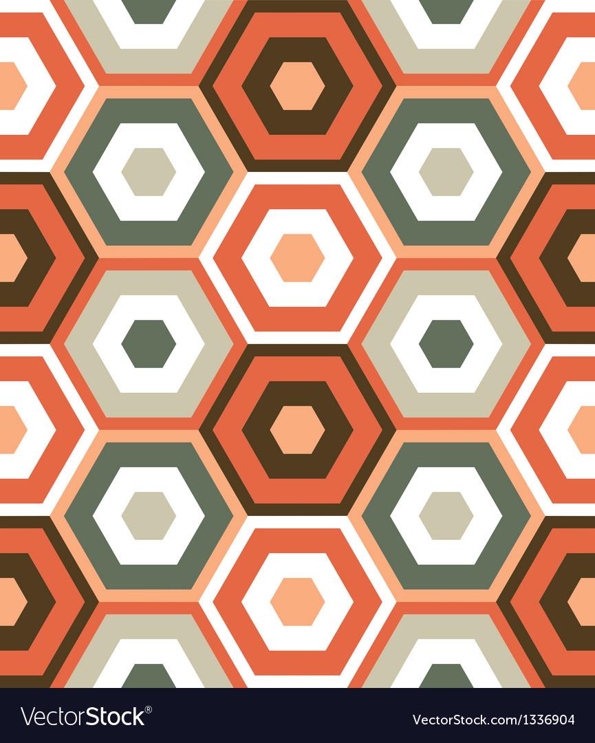 Retro modern hexagon pattern vector   Price: 1 Credit (USD $1)