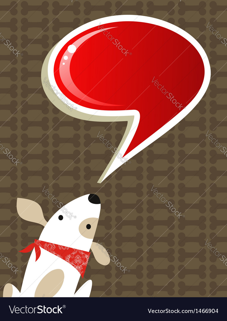 Social dog with chat bubble vector | Price: 1 Credit (USD $1)