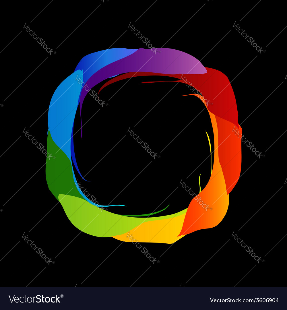 Spectrum of visible light- color wheel design vector | Price: 1 Credit (USD $1)