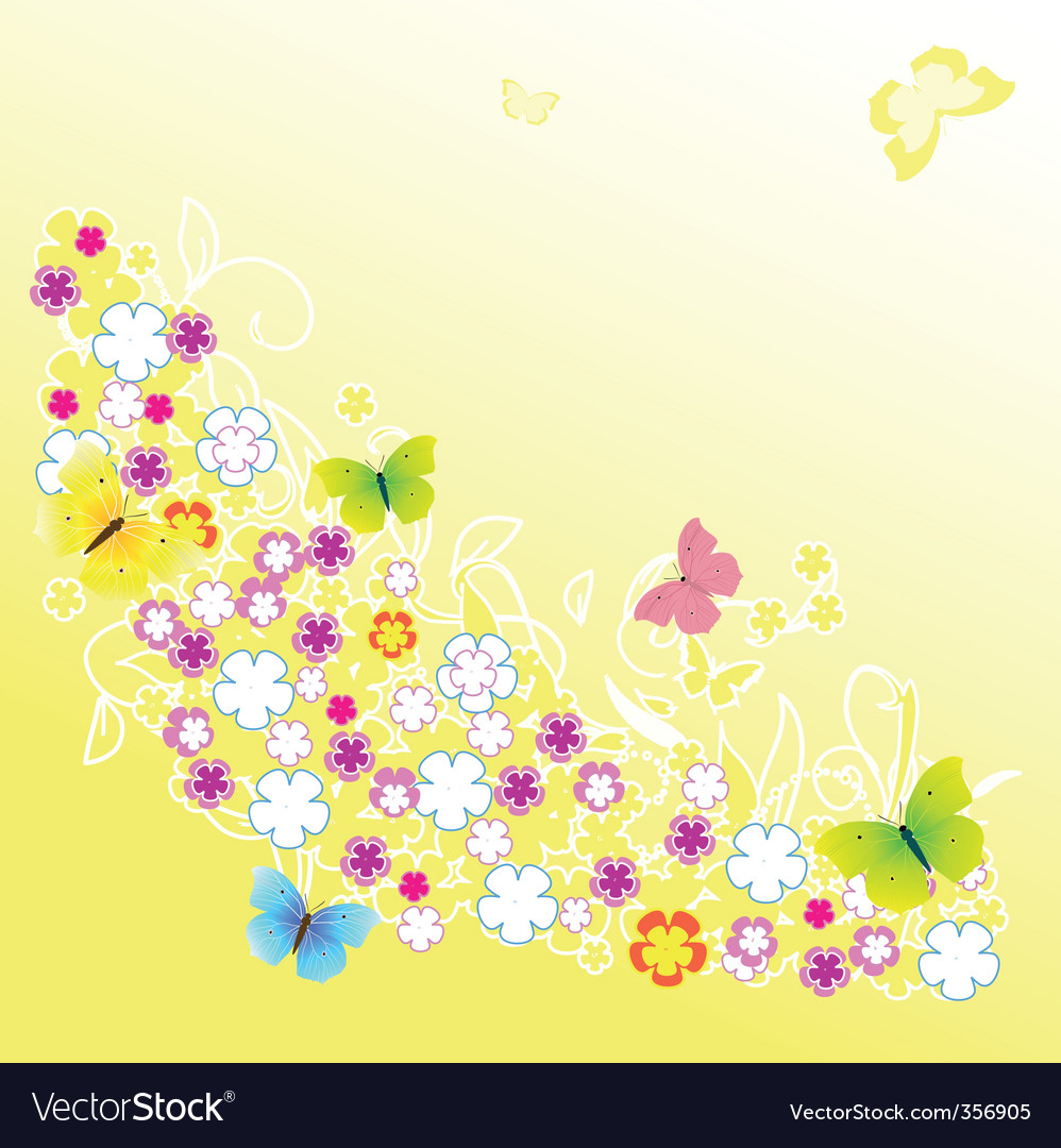 Abstract background of yellow flower vector | Price: 1 Credit (USD $1)
