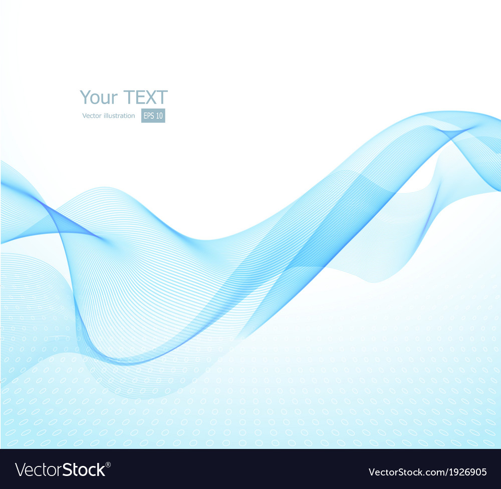 Abstract background with blue wave vector | Price: 1 Credit (USD $1)