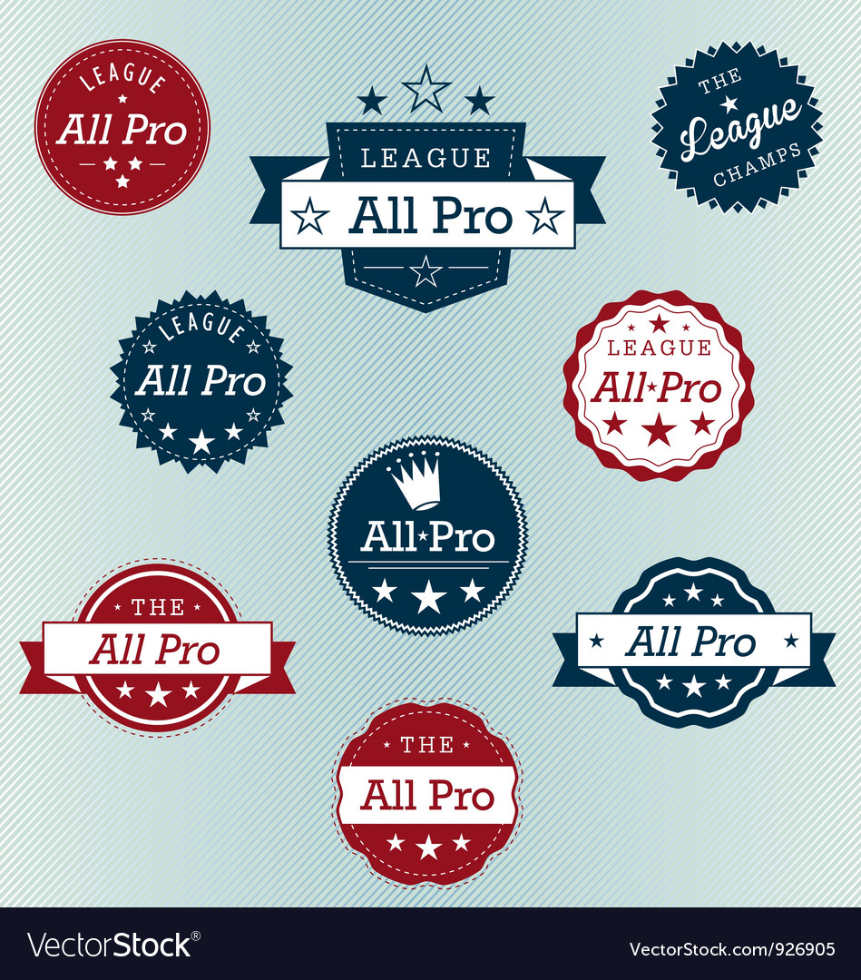 All pro labels vector   Price: 1 Credit (USD $1)