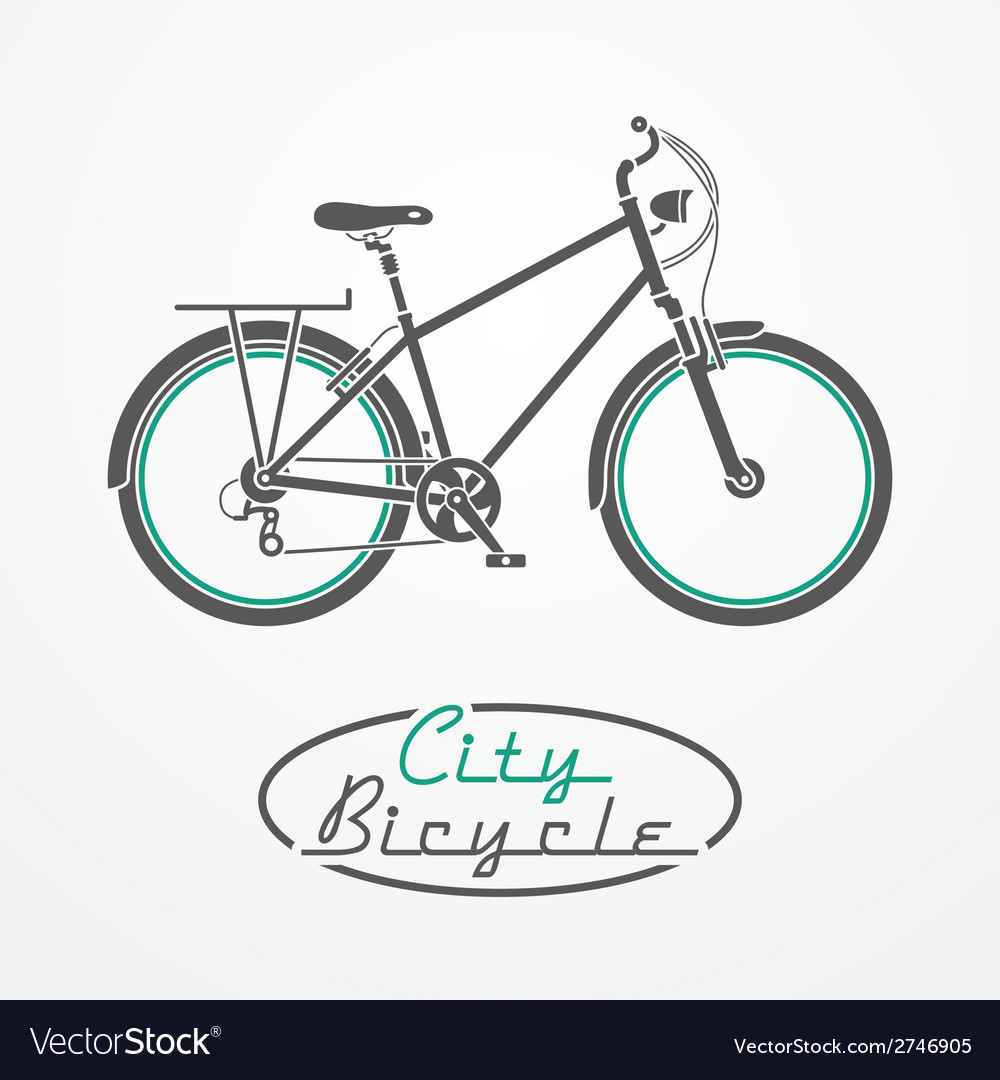Bicycle emblem vector | Price: 1 Credit (USD $1)
