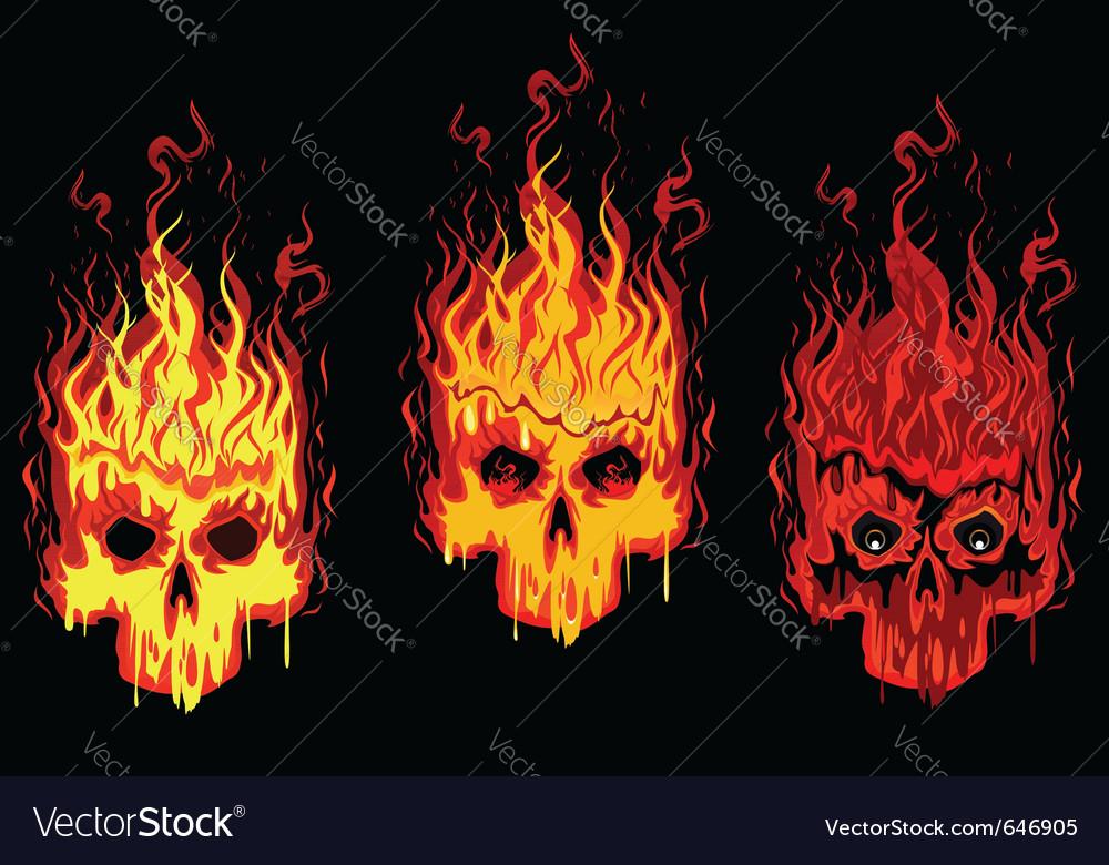 Burning skulls vector | Price: 3 Credit (USD $3)