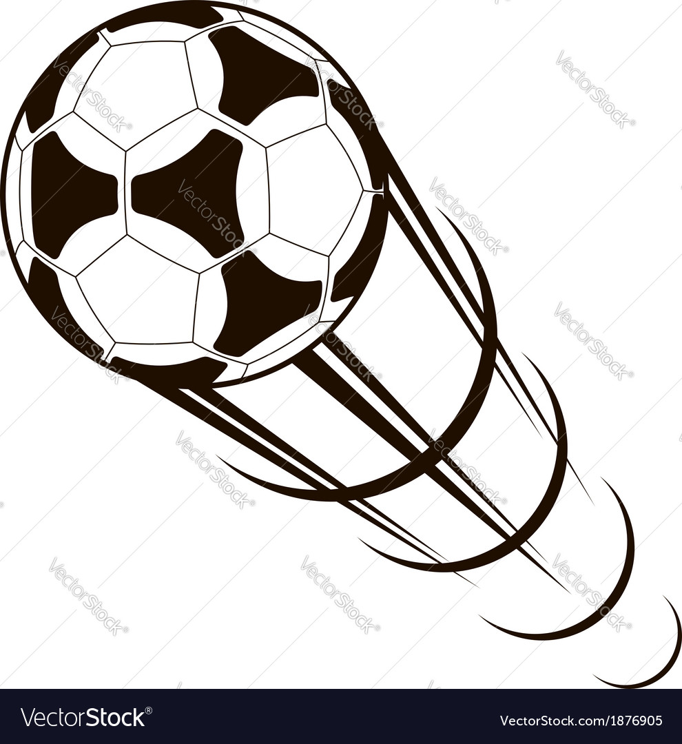 Championship soccer ball zooming through the air vector | Price: 1 Credit (USD $1)