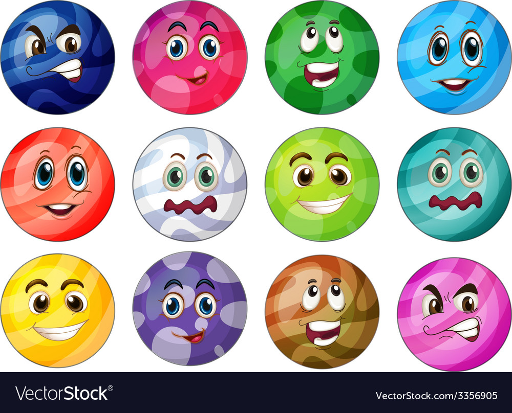 Colourful balls vector | Price: 3 Credit (USD $3)