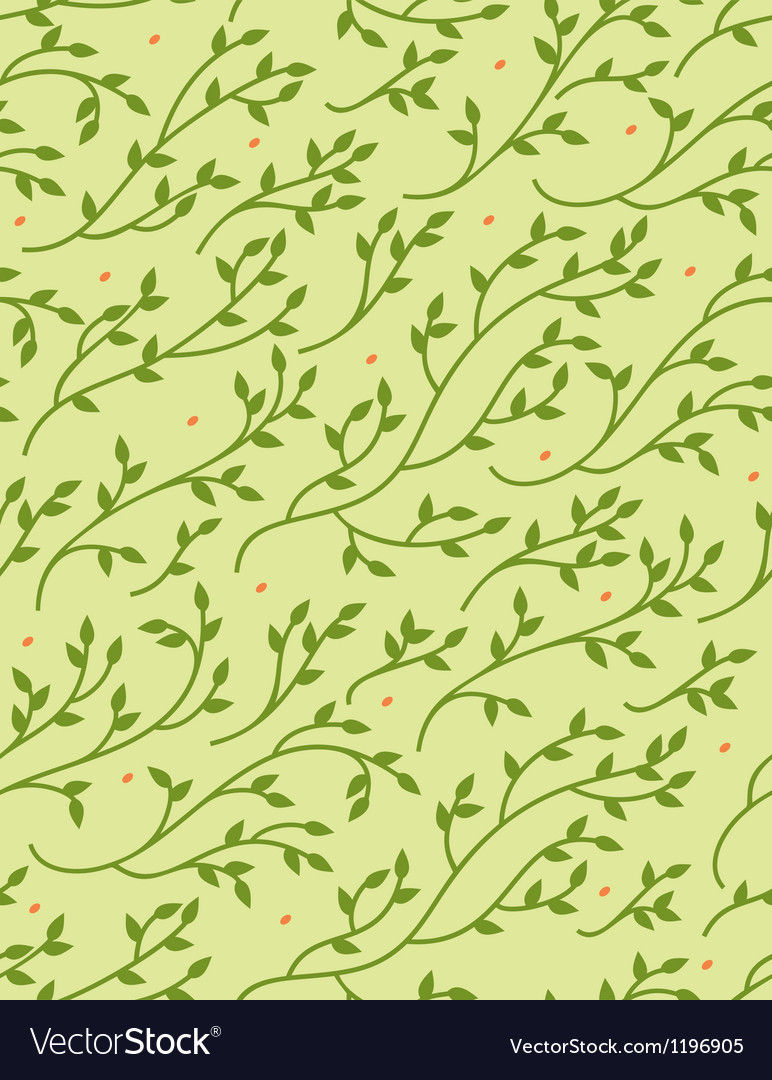 Green spring seamless pattern vector | Price: 1 Credit (USD $1)
