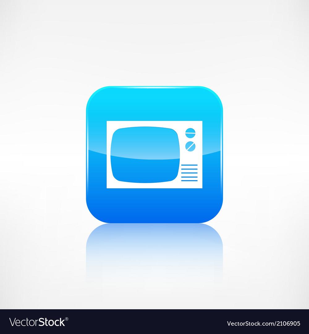 Retro tv icon application button vector | Price: 1 Credit (USD $1)
