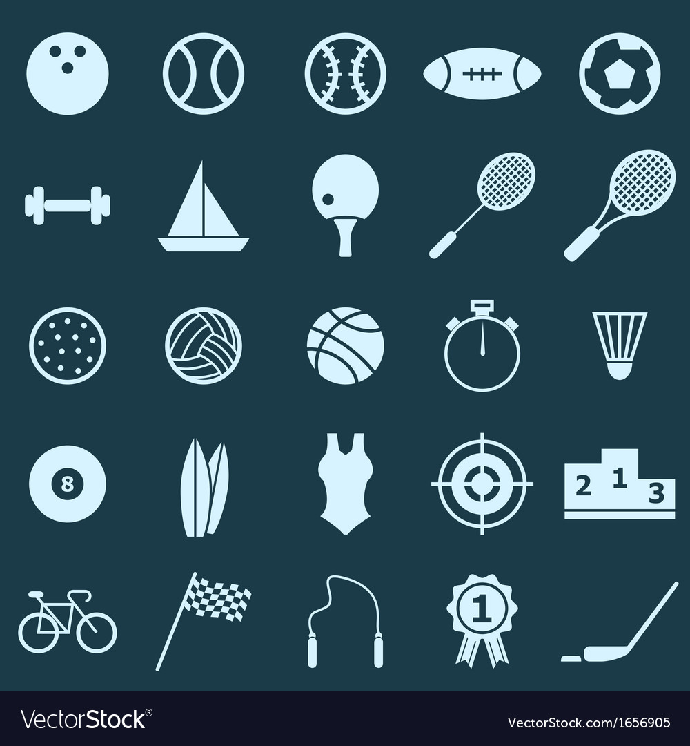 Sport color icons on blue background vector | Price: 1 Credit (USD $1)