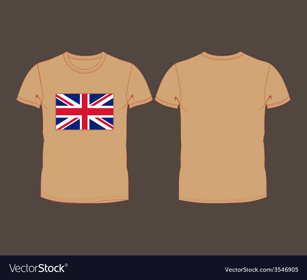 T-shirt with the flag of great britain vector | Price: 1 Credit (USD $1)