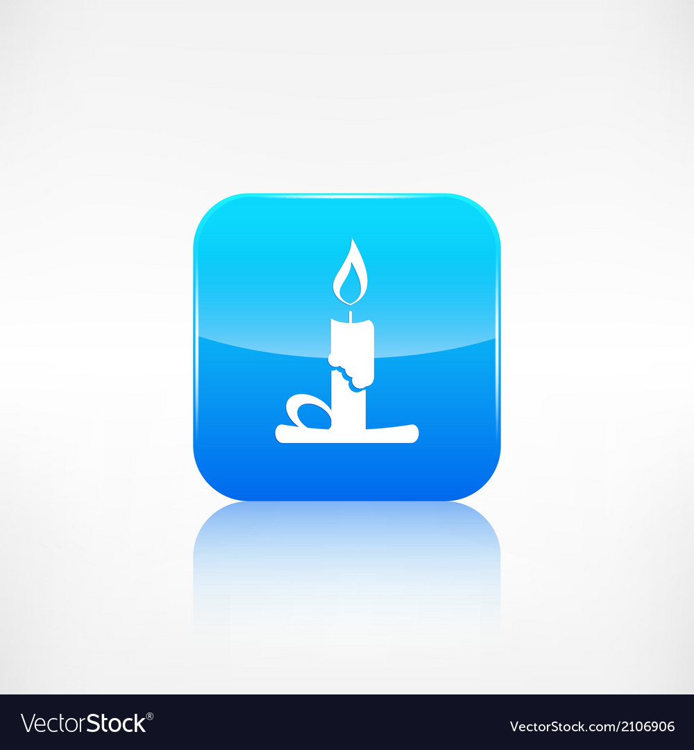 Candle web icon application button vector | Price: 1 Credit (USD $1)