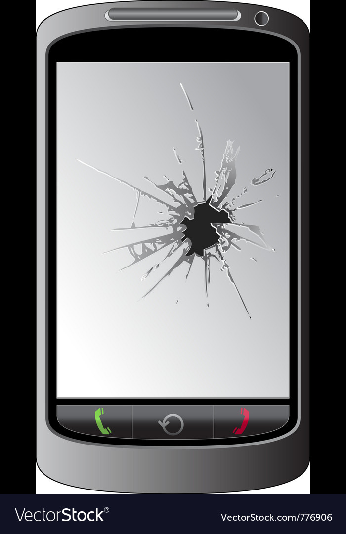 Cracked cellphone display vector | Price: 1 Credit (USD $1)