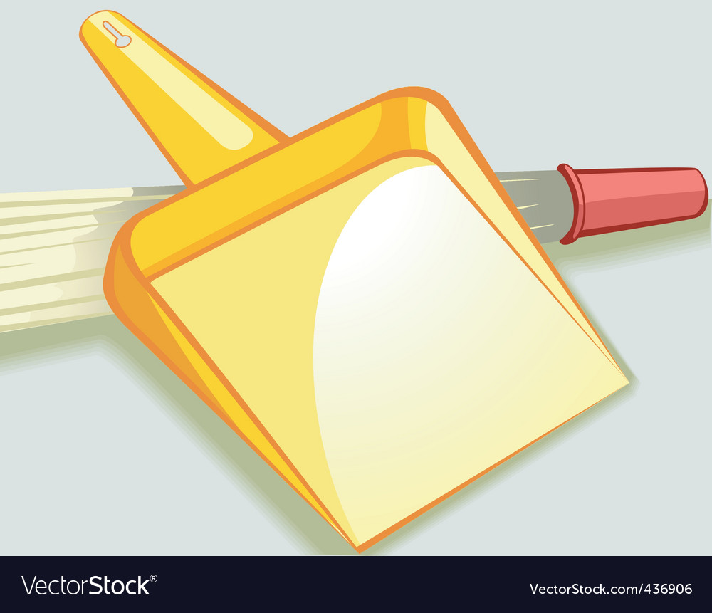 Dust tray and broom vector | Price: 1 Credit (USD $1)