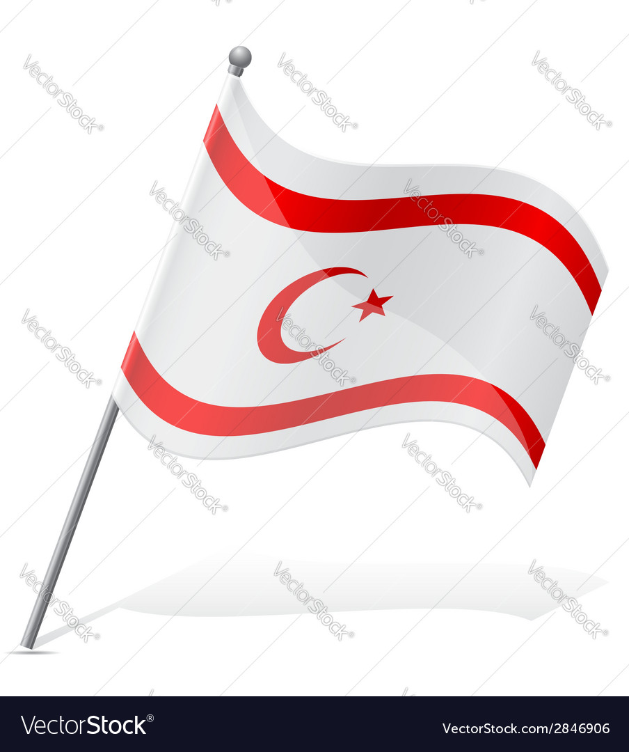 Flag turkish republic of northern cyprus vector | Price: 1 Credit (USD $1)