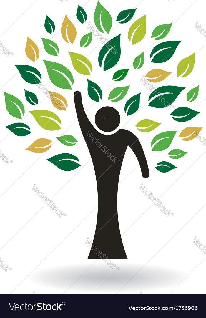 Hi 5 people tree logo vector | Price: 1 Credit (USD $1)
