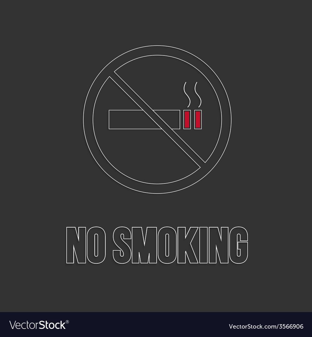 No smoking sign no smoke icon vector | Price: 1 Credit (USD $1)