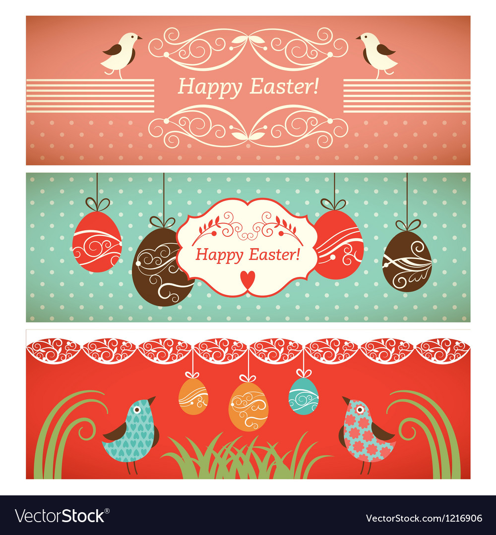 Set of easter banners vector   Price: 1 Credit (USD $1)