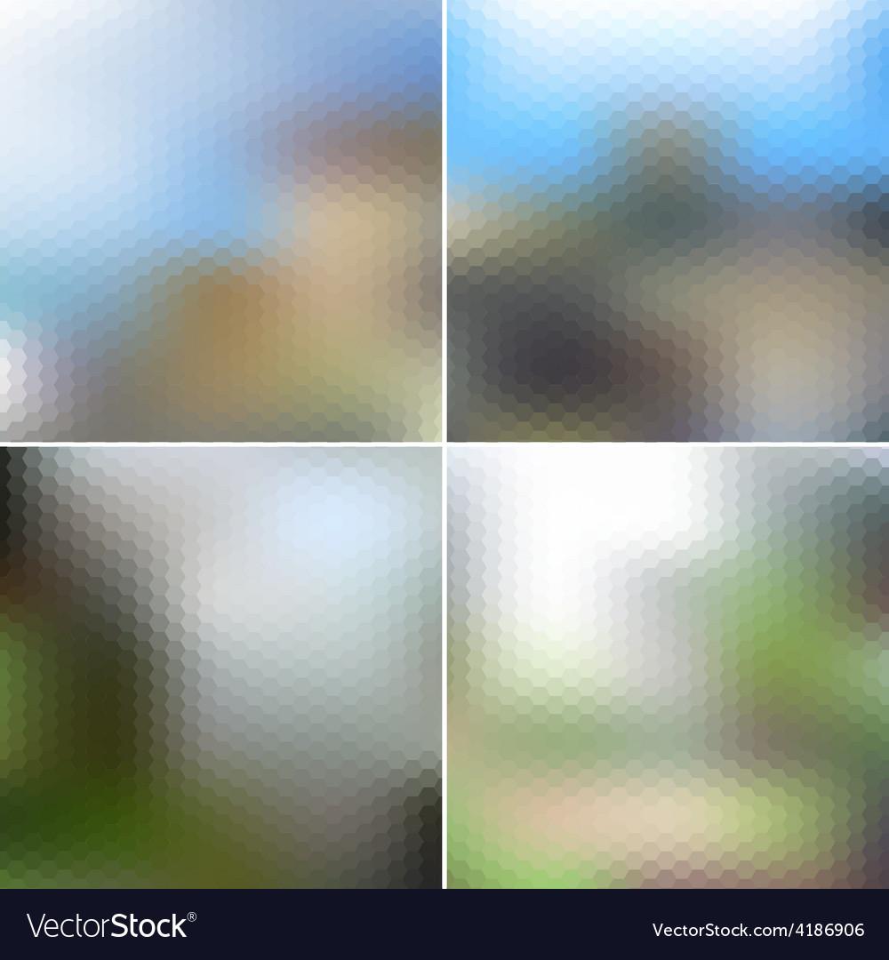 Set of nature blurred hexagonal unfocused vector   Price: 1 Credit (USD $1)