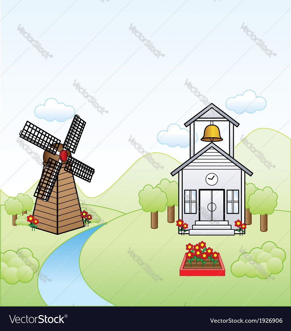 Simple town vector | Price: 1 Credit (USD $1)