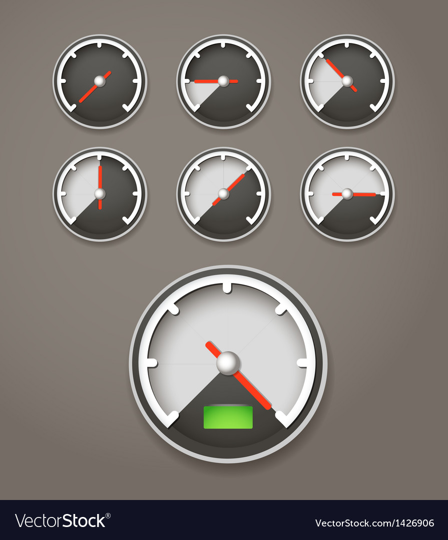 Speed limit web icons collection vector | Price: 1 Credit (USD $1)