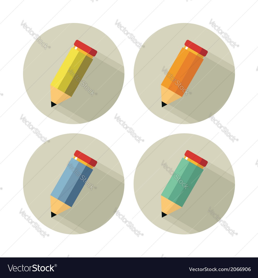 Yellow pencil isolated on white vector | Price: 1 Credit (USD $1)