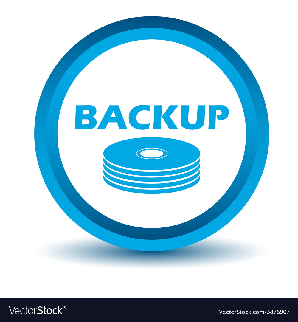 Blue backup icon vector | Price: 1 Credit (USD $1)