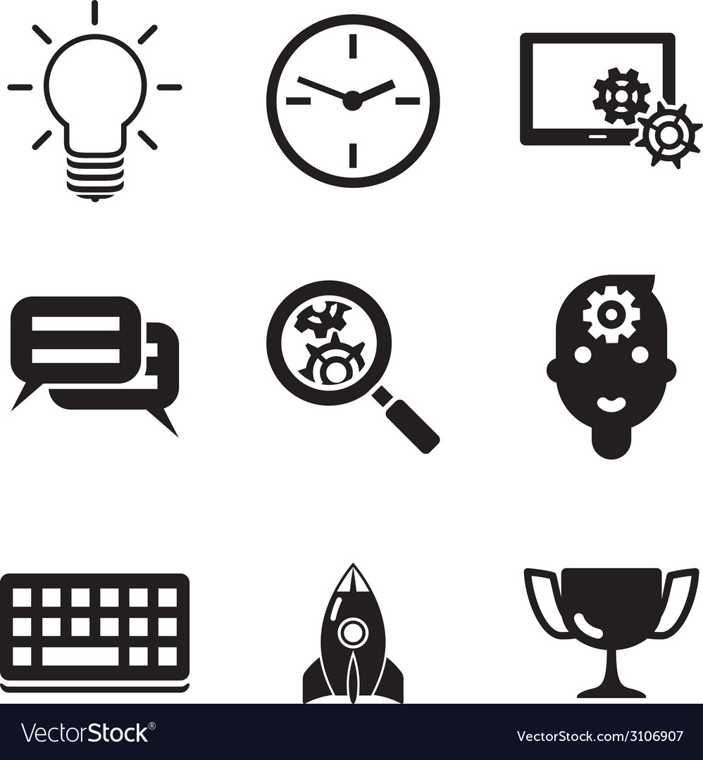Business seo social media marketing silhouette vector | Price: 1 Credit (USD $1)