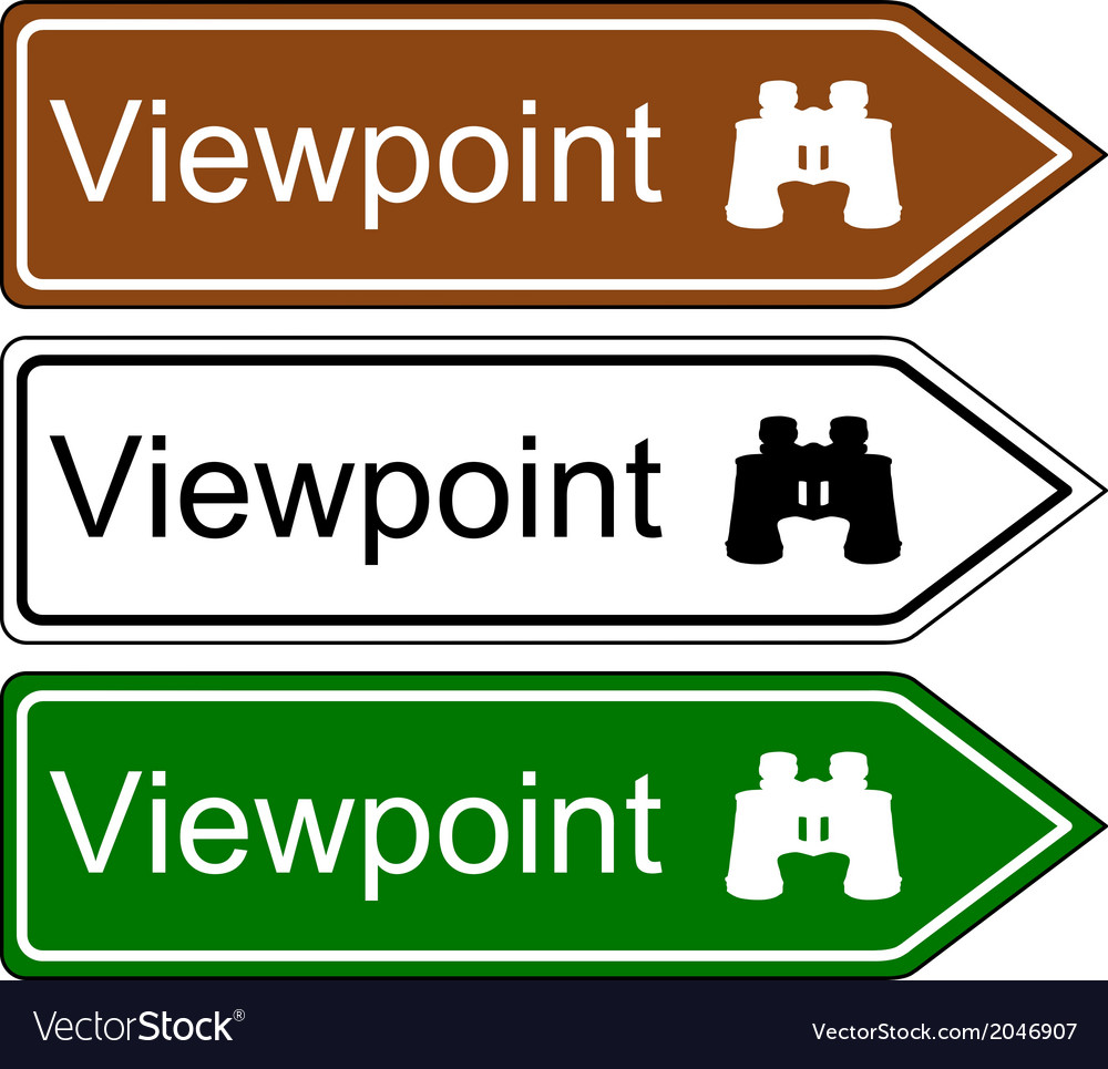 Direction sign viewpoint vector | Price: 1 Credit (USD $1)