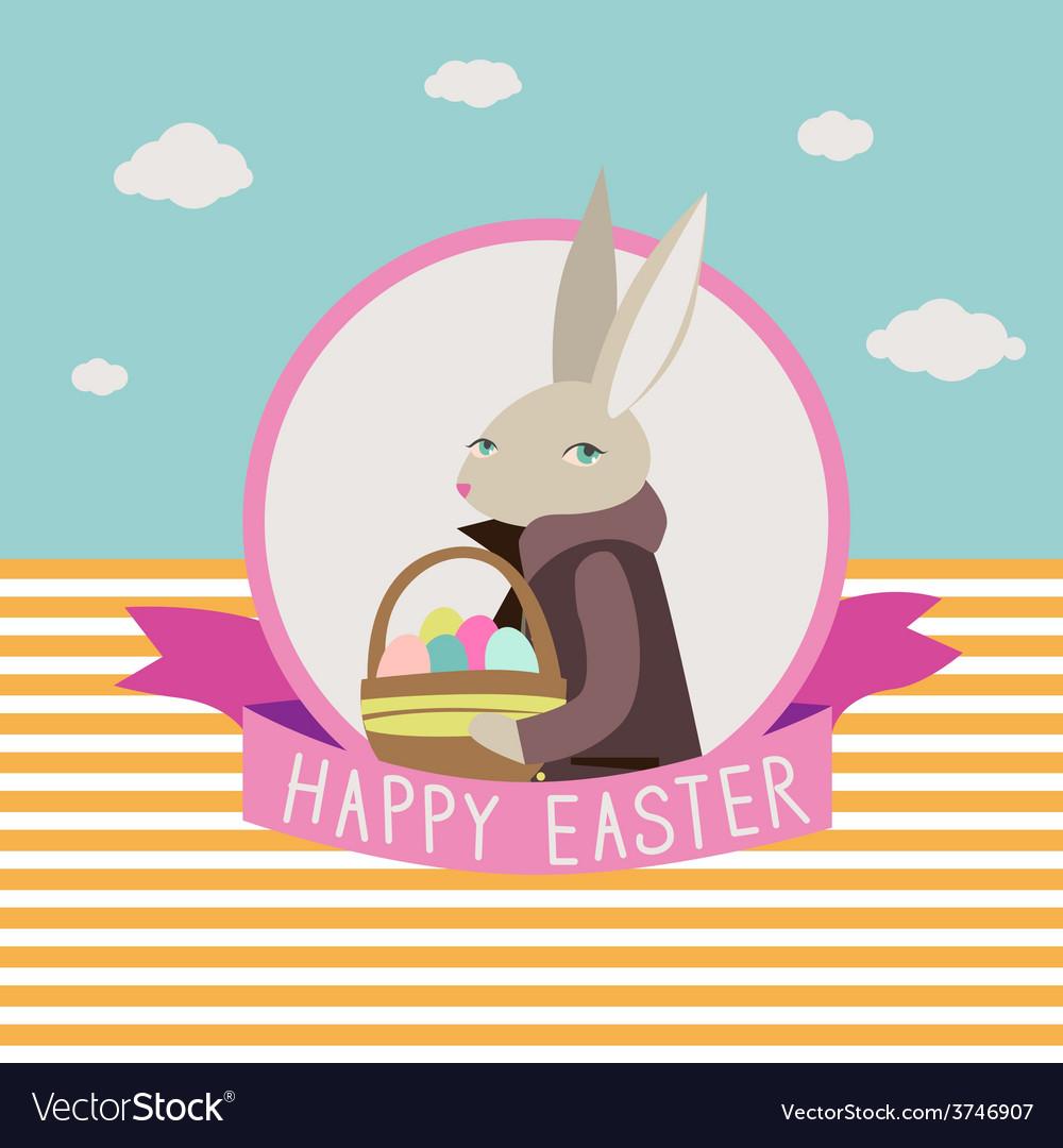 Ester design with rabbit vector | Price: 1 Credit (USD $1)