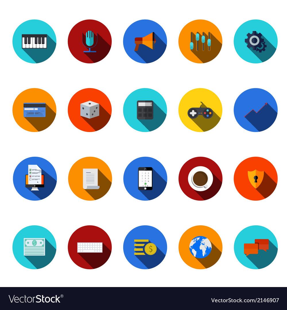 Flat modern icons set vector   Price: 1 Credit (USD $1)