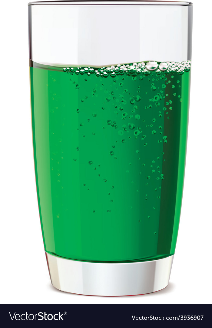 Glass of green juice vector | Price: 1 Credit (USD $1)