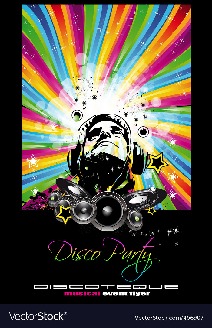 Music disco flyer vector | Price: 1 Credit (USD $1)