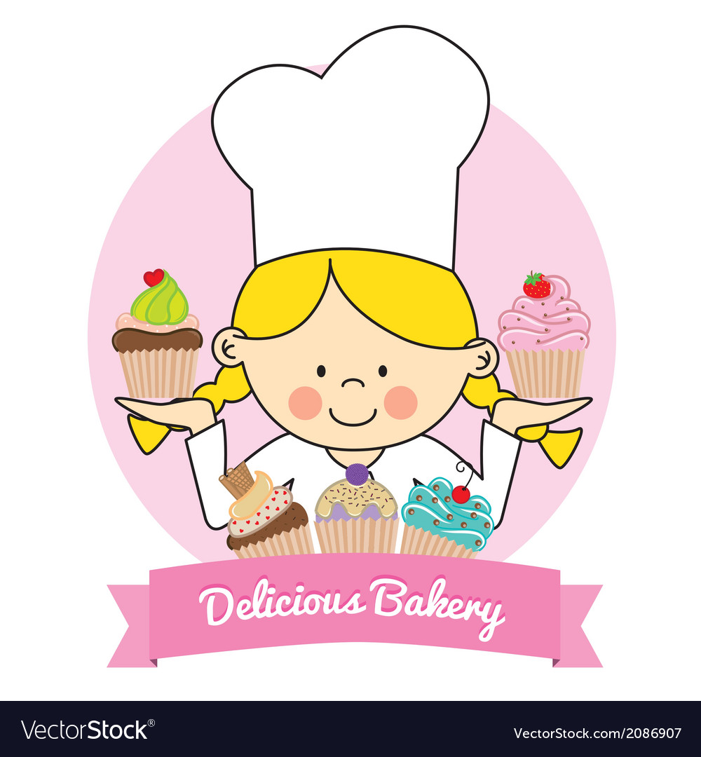Pastry girl vector | Price: 1 Credit (USD $1)