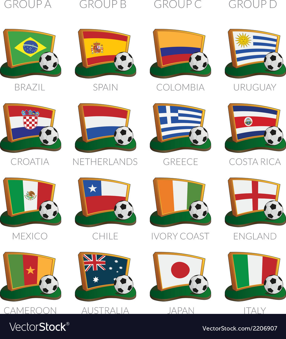 Soccer cup 2014 icons vector | Price: 1 Credit (USD $1)