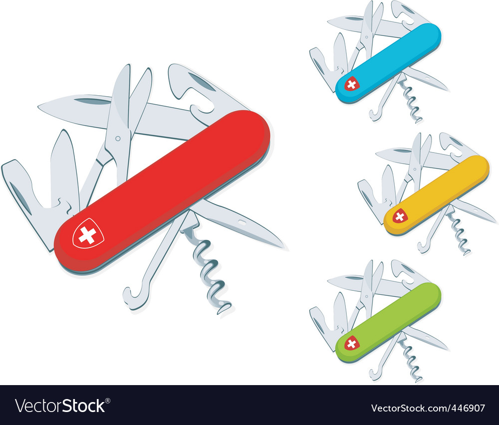 Swiss knife vector | Price: 1 Credit (USD $1)