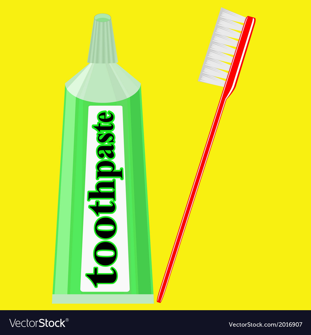 Toothpaste and toothbrush vector | Price: 1 Credit (USD $1)
