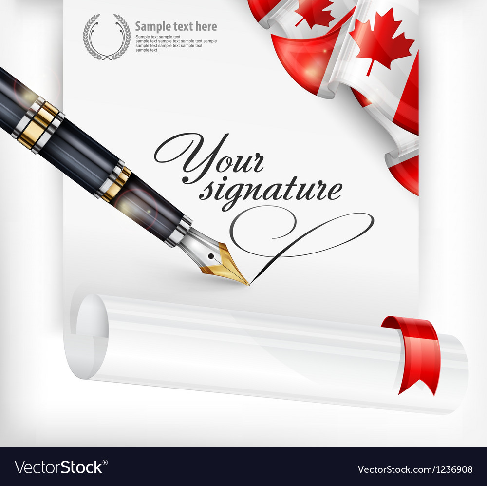 Canadian blank and pen vector | Price: 3 Credit (USD $3)