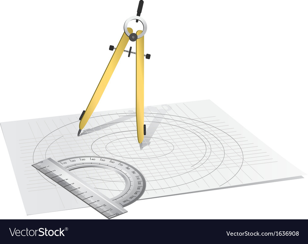 Drawing compass vector | Price: 1 Credit (USD $1)