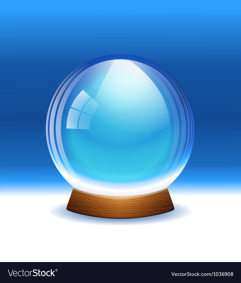Empty transparent snow globe vector