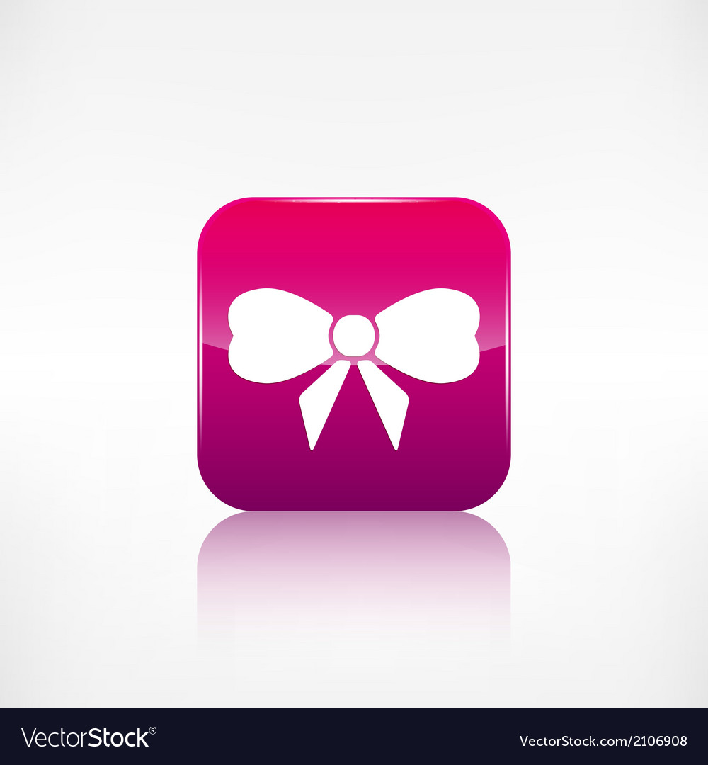 Gift christmas bow web icon application button vector | Price: 1 Credit (USD $1)