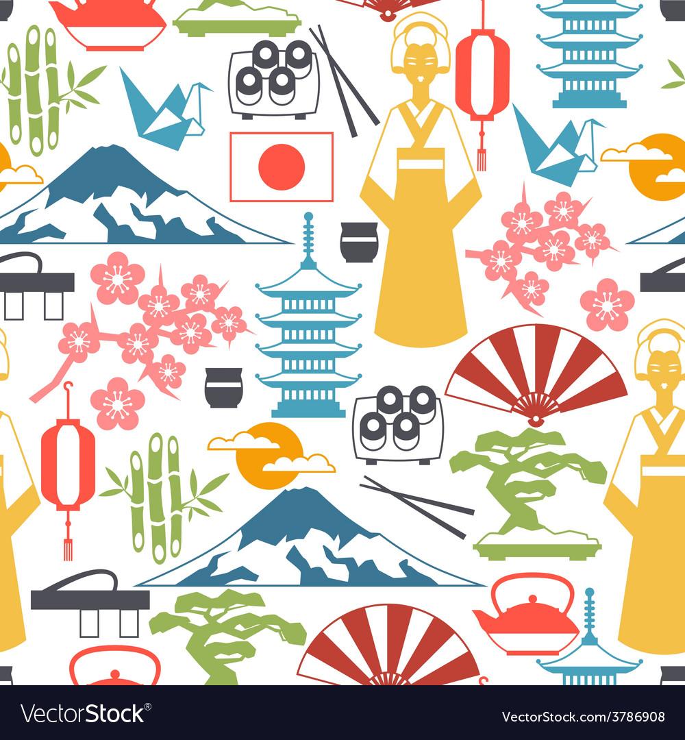 Japan seamless pattern vector   Price: 1 Credit (USD $1)