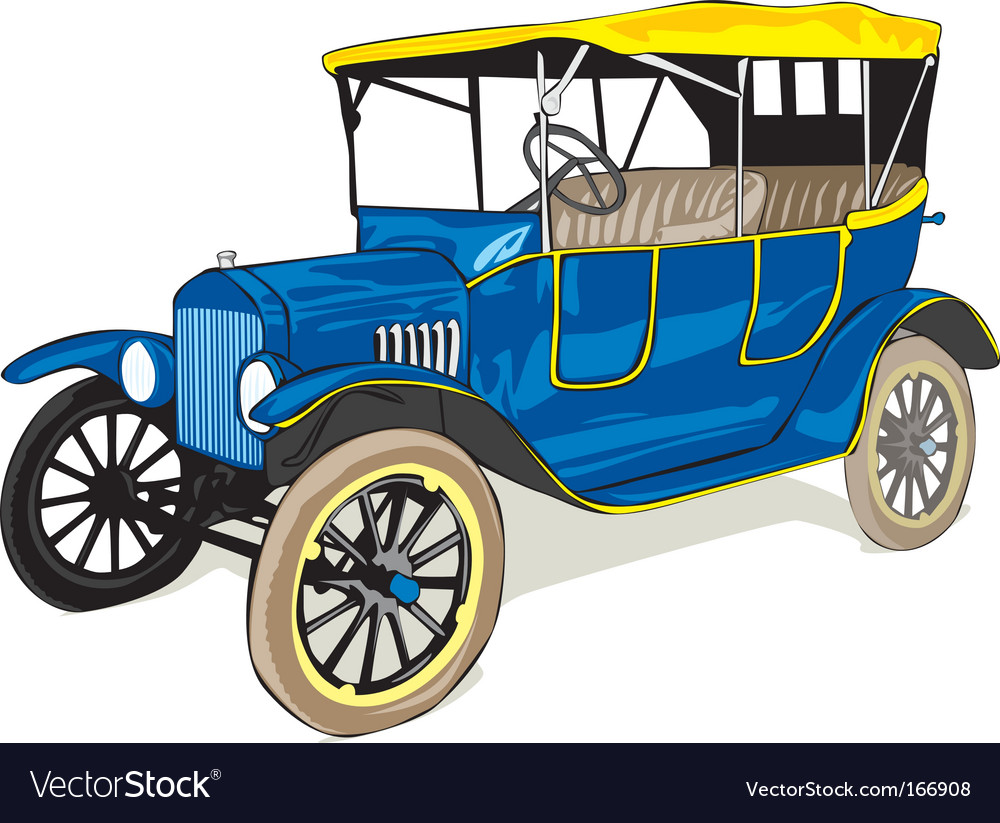 Old car vector | Price: 1 Credit (USD $1)