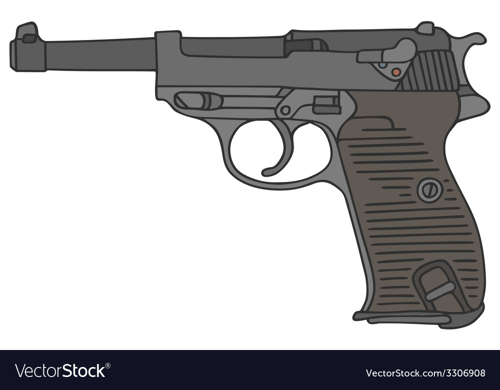 Old handgun vector | Price: 1 Credit (USD $1)
