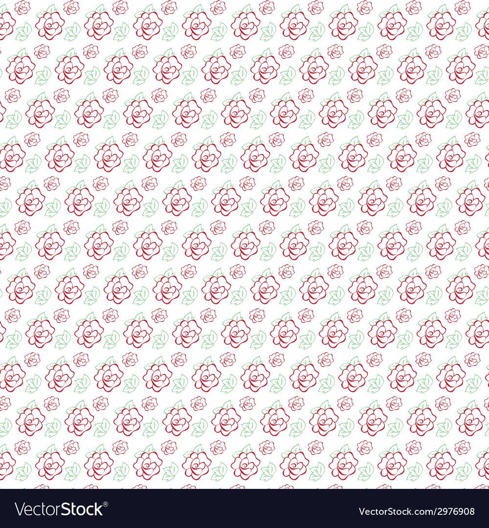 Seamless pattern of stylized flowers vector | Price: 1 Credit (USD $1)