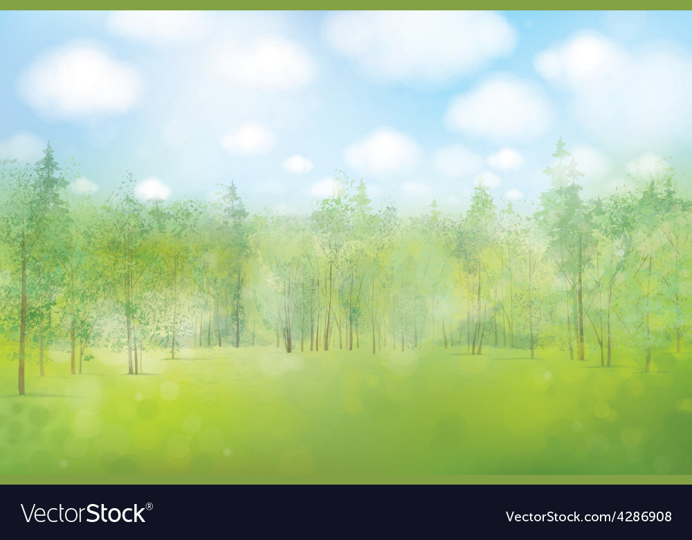 Spring forest background vector | Price: 3 Credit (USD $3)